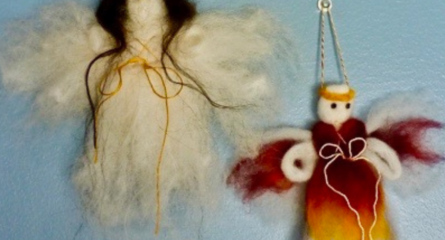 How to Make a Roving Angel | Copia Cove Icelandic Sheep Butte Montana