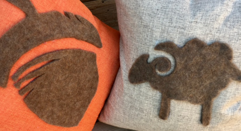 How to Make a Wool Felt Silhouette Throw Pillow | Copia Cove Butte Montana